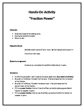 Fraction Power Activity