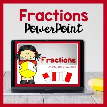 Interactive Fraction PowerPoint (Halves, Quarters & More!)