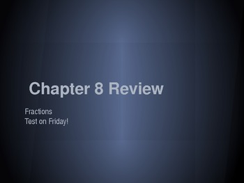 Fraction PowerPoint Review