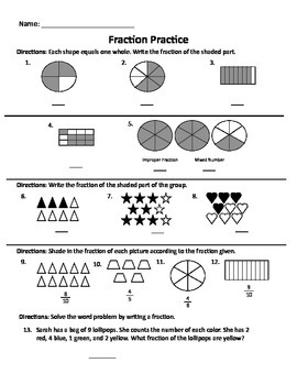 Fraction Practice 2