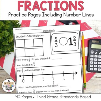Fraction Practice: Comparing Fractions, Number Line, Mixed Numbers, Improper