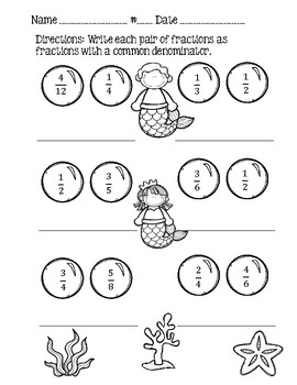Fraction Practice Worksheets!