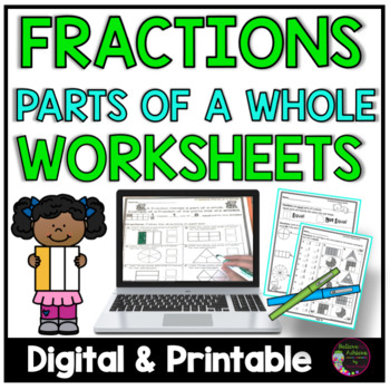 Fraction Practice Work- (Parts of a Whole)