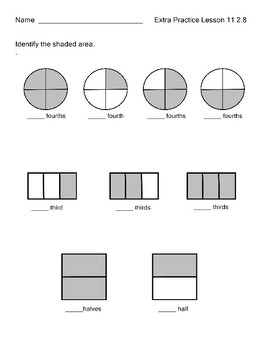 Fraction Practice Understanding Whole Engage NY  Module 8  Lesson 11 2.8