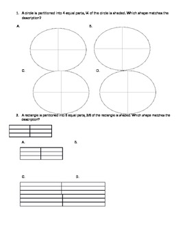 Fraction Practice and Test Pages with Answer Keys