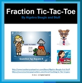 Fraction Pre-Historic PowerPoint Tic-Tac-Toe Game