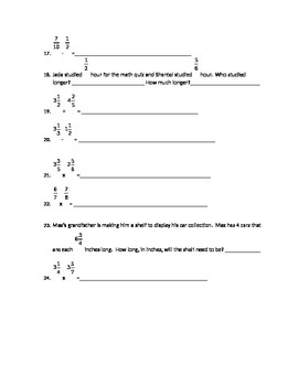 Fraction Pre-test