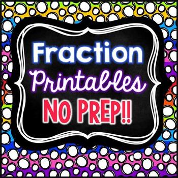 Fraction No Prep Printables
