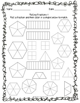 Fraction Printables and Activities!
