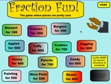 Fraction Problem Solving Game!  Add, Subtract, & Compare.  -SmartBoard Notebook-