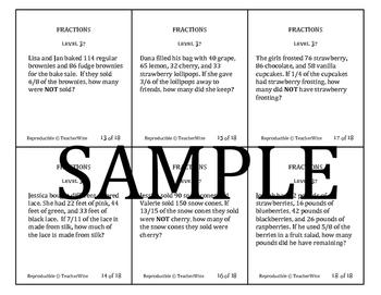 Fraction Problem Solving Task Cards: Level 37 Multiply Fractions Multi-Operation