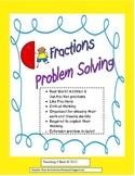 Fraction Problem Solving: Word Problems
