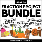 Fractions Projects Bundle for 4th Grade | Distance Learning
