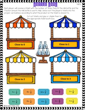 Fraction Worksheets - Compare, Adding, Subtracting and Multiplying