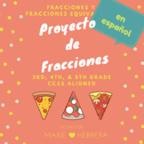 Pizza Fraction Project in Spanish