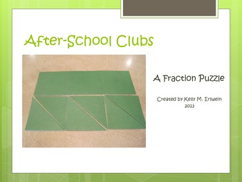 Fraction Puzzle:  After-School Clubs