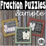 Fraction Puzzle SAMPLE Freebie