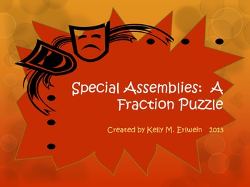 Fraction Puzzle:  Special Assemblies