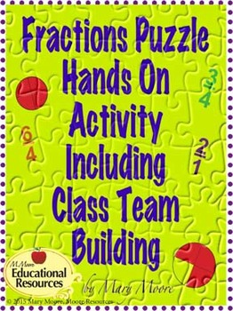 Class Team Building & Cooperative Learning Including Learning about Fractions!