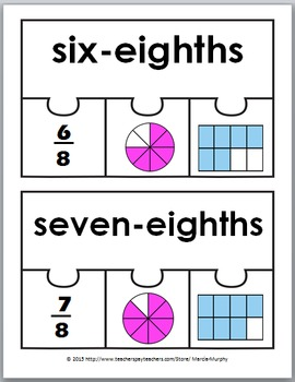 Fraction Activities - Fraction Puzzles