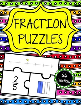 Fraction Puzzles (3 puzzle pieces)