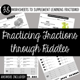 Fraction Puzzles 38 Worksheets!