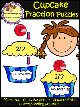 Fraction Puzzles - Cupcake (School Designhcf)