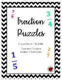Fraction Puzzles: Equivalent Fractions & Addition/Subtraction