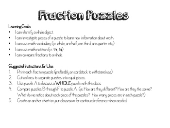 Fraction Puzzles - Football