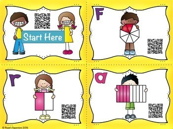 Fraction QR Code Scavenger Hunt