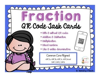 Fraction QR Code Task Cards [4th & 5th grade]