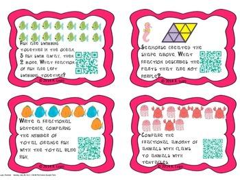 Fraction task cards