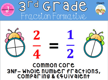 Comparing Fractions, Equivalent Fractions, Fractions on a numberline Quick Check