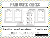 Fraction Quick Checks (5th Grade Common Core Aligned Assessments)