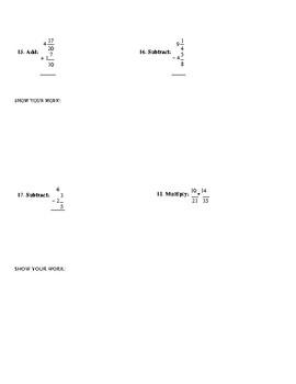 Fraction Quiz