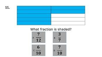 Fraction Quiz:  A PowerPoint Assessment