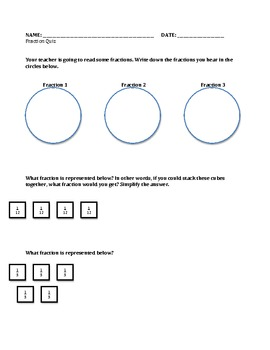 Fraction Quiz: Simplified and Equivalent Fractions