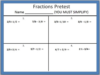 Fraction RTI practice pages and tracking