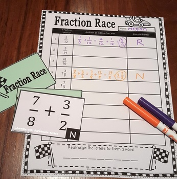 Fraction Race: Addition and Subtraction