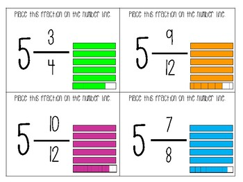 Fraction Race (Benchmarking, Fractions and Numberlines, and Fraction Cards)