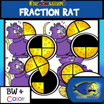 Fraction Rat! MATH Edumonstrum Original Anime Monster-12 Pieces BW/Color