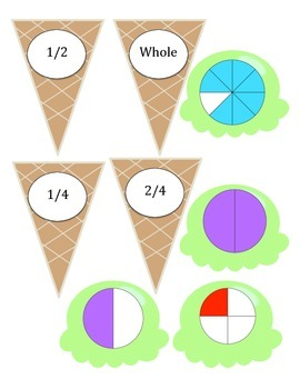 Fraction Recognition Game (1/2, 1/4, 1/8)