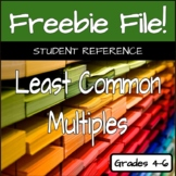 Least Common Multiples Reference