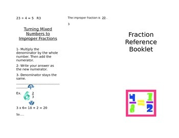 Fraction Reference Foldable