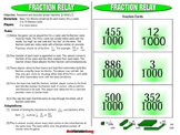 Fraction Relay: Proper Fractions Games
