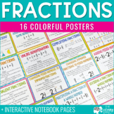 Fraction Posters and Interactive Notebook Pages