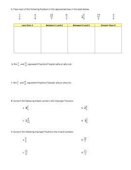 Gr. 6 Fraction Review