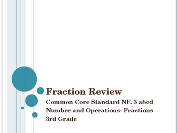 Fraction Review 3rd Grade