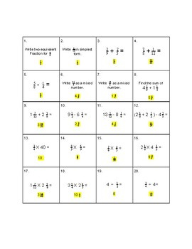 Easter Fraction Review