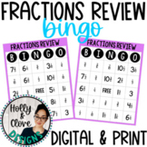 Fractions BINGO - Digital & Print Versions - NO PREP Game